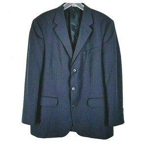 Structure Striped 100% Wool Sport Coat Jacket 42R